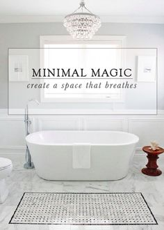 This freestanding acrylic tub has a sleek sloping interior, creating a backrest that's perfect for unwinding. Create minimal magic in your bathroom with this simplistic, yet stunning, design.