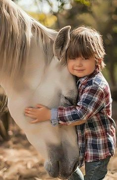 When my son was two years old I had horses and he was forever underneath them. They were mares and never moved when he was near their feet. Today my son is a grown man and whispers with horses.