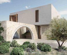 Panorama Villa – K-Studio H Design, Facade Design, Exterior Design, Facade Architecture, Contemporary Architecture, Small Villa, Modern Villa Design, Village House Design, Mediterranean Homes