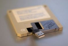 A USB drive in a floppy disk!