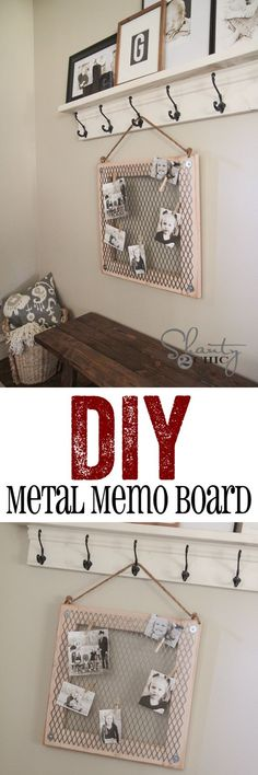 Easy DIY Memo Board with Metal!  So cute and cheap too!