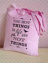 Nákupné tašky -  Taška o veciach na veci - 6466288_