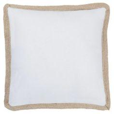 Buy Woven Edge Cushion White from our Cushions range - Tesco.com