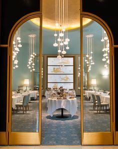Turin Palace Hotel, Via Sacchi 8, 10128 Turin, Italy. Sala Mollino • Interiors: Patrizia Poli, Margherita Marzot