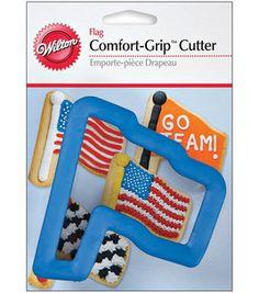 "Wilton Comfort-Grip Cookie Cutter 4""-Flag"
