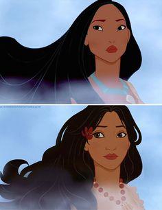 Si les princesses Disney étaient d'une autre nationalité. Pocahontas devient Hawaôienne. | fénoweb