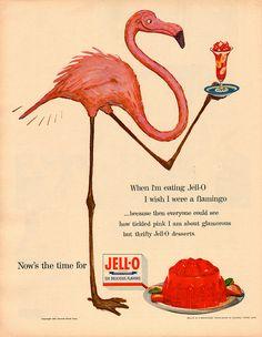 "Jell-O (1954) - ""When I'm eating Jell-O . . . I wish I were a flamingo ..."""