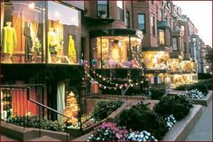 Newbury Street- possibly Saturday or we can take the scenic route and go down comm. ave
