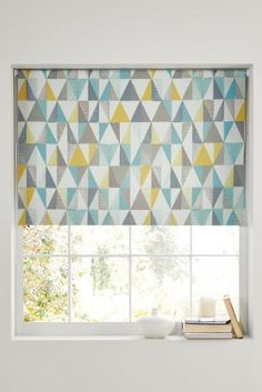 Buy Textured Geo Print Blackout Roller Blind from the Next UK online shop