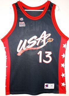 Champion NBA USA Basketball Team #13 Shaquille O'Neal Trikot/Jersey Size 44 - Größe L - 69,90€ #nba #basketball #trikot #jersey #ebay #etsy #hood #sport #fitness #fanartikel #merchandise #usa #america #fashion #mode #collectable #memorabilia #allbigeverything
