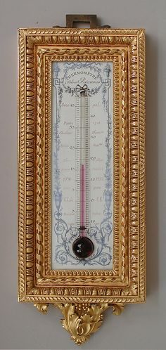 ot, but i just had to jam this in here. wall hung parcel gilt thermometer ca. French Furniture, Antique Furniture, French Walls, Baroque, Art Nouveau, Dark Ages, Oeuvre D'art, Decorative Items, Vintage Antiques