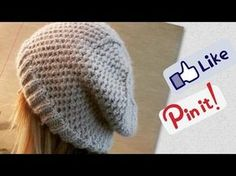 How to Knit a Slouchy Beanie Hat? ( Shortened Version ) - YouTube
