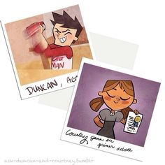 Happy Friday  younger duncney is adorable  ____   Credit Artist   http://ask-duncan-and-courtney.tumblr.com/ - @duncney- #webstagram