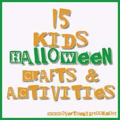 Halloween Crafts | HalloweenCraftButton 15 Kids Halloween Crafts & Activities