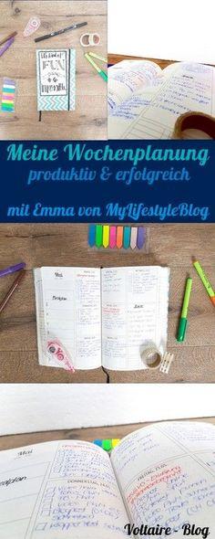Meine Wochenplanung für eine Produkte & erfolgreiche Woche: Ich und Emma von MyLifestyleBlog ahebn Euch unsere Tipps für unsere Wochenplanung gegeben, um eine produktive & erfolgreiche Woche zu haben.