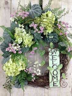 Summer Wreath Spring Wreath Front Door Wreath Welcome Sign Hydrangea Wreath, Sunflower Wreaths, Floral Wreath, Spring Front Door Wreaths, Fall Wreaths, Mothers Day Wreath, Outdoor Wreaths, Year Round Wreath, Green Wreath