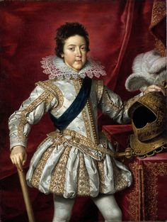 Portrait of Louis XIII, King of France as a Boy, (ок.1616, Los Angeles County Museum of Art,)