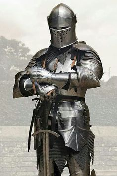 Medieval armor:The Knight Medieval Weapons, Medieval Knight, Medieval Fantasy, Armadura Medieval, Knight In Shining Armor, Knight Armor, Ancient Armor, Templer, Landsknecht