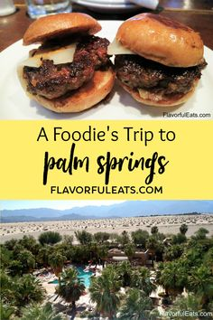 A Foodie's Trip to Palm Springs: In case you don't know, Palm Springs is in the middle of the desert, more specifically, the Coachella Valley. The closer you get, the more it feels like. Best Places To Travel, Places To Eat, Weird Food, Worldwide Travel, Spring Recipes, Different Recipes, Foodie Travel, Palm Springs, Travel Usa