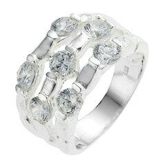 Materiaal: Zilver. Soort steen: Zirkonia. Soort: Ring. Maat: 17,5