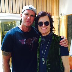 With brother, CHAD SMITH, recording songs with me and my Band in Copenhagen ~ never a dull moment with chadelicious