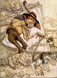 Arthur Rackham – There was a Crooked Old Man (Mother Goose)