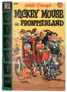 Dell Giant Mickey Mouse in Frontierland #1 1956 VG/FN