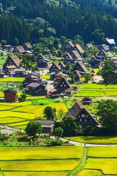 Shirakawa, Gifu village in Japan.  Known for being the site of Shirakawa-go traditional village showcasing a building style known as gassho-zukuri. Click through to see 25 more of the most beautiful villages in the world!