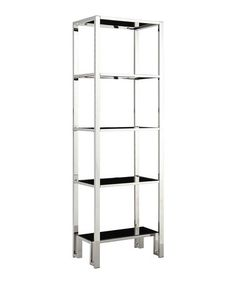 Love this Black & Chrome Metal Bookcase on #zulily! #zulilyfinds by Homebelle