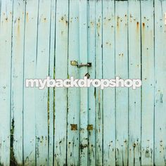 5ft x 5ft Light Blue Barn Wall Backdrop for Photography - Wedding or Engagement Photoshoot Background - Vinyl - Item 1404