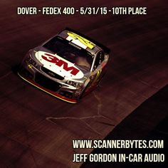 10th place at Dover for Jeff!  In-car audio is up for your pleasure.