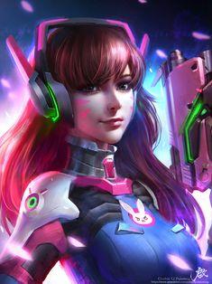 "spyrale: ""Overwatch Fan Art by Qichao Wang "" Chun Li, Hana, Divas, Overwatch Fan Art, Overwatch Mercy, Overwatch Drawings, Overwatch Widowmaker, Fantasy Images, Video Game Art"