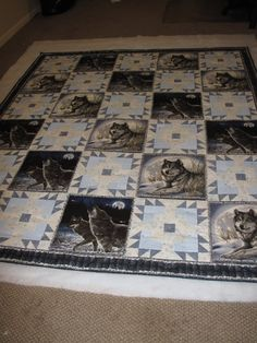 Wildlife Fabric Panels | By the Water: A Wolf Quilt