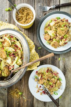 Warm Roasted Brussels Sprouts & Quinoa Salad with Tempeh Bacon Bits