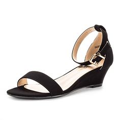 3bee2a7f6db DREAM PAIRS iNGRID New Women Fashion Wear Summer Open Toe Ankle Strap  Buckle Thong Design Low Wedge Sandals Designed in USA Heel height  (approx)  Stylish ...
