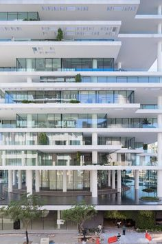 Beirut Terraces by Herzog & de Meuron uses staggered floors to create plant-covered tower