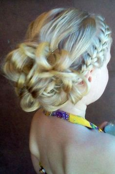 Reese likes the braid and curls....