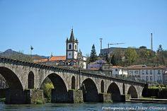 Ponte Sobre o Rio Lima - Ponte da Barca - Portugal