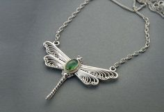 Dragonfly pendant sterling silver opal with gold plated border