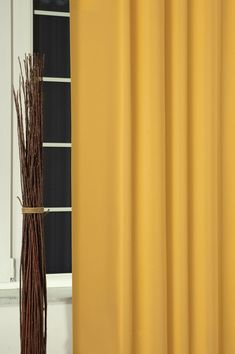 Záves black-out metrážový Uni prima curry 17 Curry, Curtains, Home Decor, Products, Curries, Blinds, Decoration Home, Room Decor, Draping