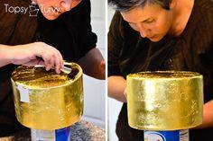 edible-gold-leaf-tutorial-cake-top by imtopsyturvy.com, via Flickr