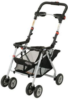 Graco SnugRider Infant Car Seat Stroller Frame:     An ideal choice for parents who want to the convenience that a stroller affords but without the bulk and expense of a car-seat-compatible stroller. This stroller can be used by infants who fit the car seat's size recommendations, but it's especially ideal for a young baby who is unable to sit up unassisted and isn't yet ready for a sleek, upright, umbrella-style stroller.    http://amzn.to/snugriderframe