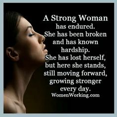 Strong woman...