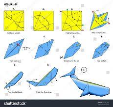 Resultado de imagem para origami whale step by step