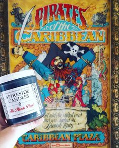 """What's your fave Disney attraction poster?  The Black Pearl is our Pirates of the Caribbean candle and captures the cannonball scene in the attraction: Pirates water salty sea breeze and cannon fire!  """"Spireside10"""" SALE ends tomorrow!    #Spireside #potc #pirates #piratesofthecaribbean #disneymagic #disneygram #disneygrammer #instadisney #disneyig #disneyinsta #igers #igers_wdw #wdwbde #magickingdom #wherethemagichappens #thehappiestplaceonearth #happiestplaceonearth #adventureland…"""