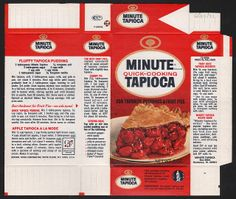 General Foods Minute Quick-Cooking Tapioca box file flat - June 29 1971 | Flickr - Photo Sharing!