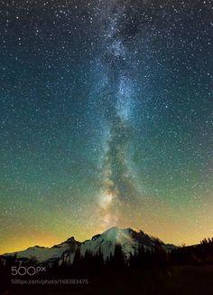 Milky way at Mt Rainier  Camera: Nikon D810 Lens: 14-24mm Focal Length: 15mm…