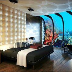 """Gorgeous underwater suite at Poseidon Resort in Fiji"""