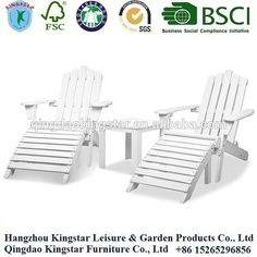 White Adirondack outdoor chair