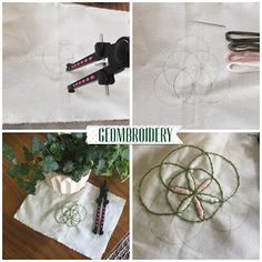Femspann, Geombroidery, embroidery pattern, easy, crafts